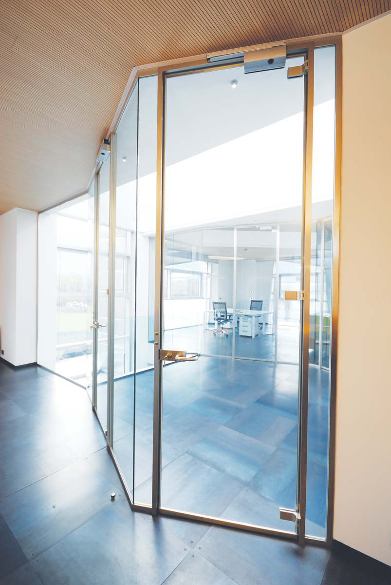 Effetre scurelle designer demountable fitted wall Interior glass partition systems