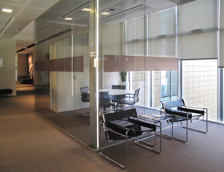 Designer office glass partitions, designer glass, classic