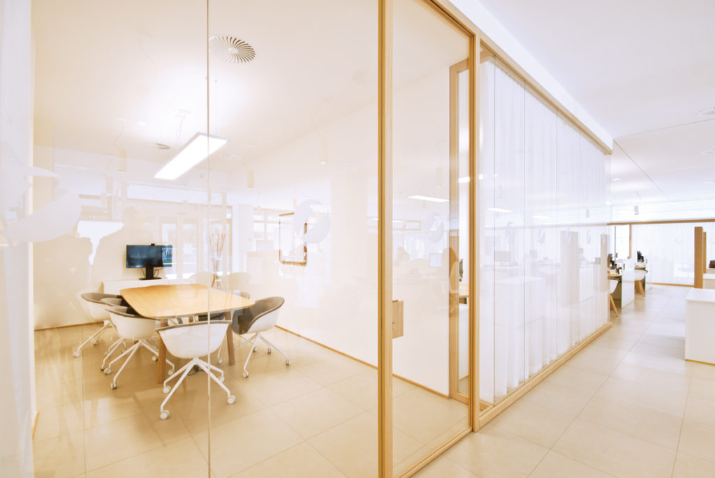 Wood divider partitions by zi creative have transformed Interior glass partition systems